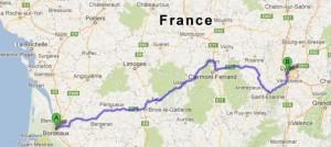 snelweg A89 (E70) in Frankrijk tussen Bordeaux en Lyon